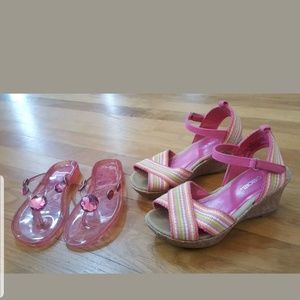 8e3f5277fcba50 Kids  Girls Wedge Flip Flops on Poshmark